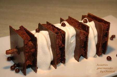 Brochette de feuille à feuille chocolat et espumas café Bailey's
