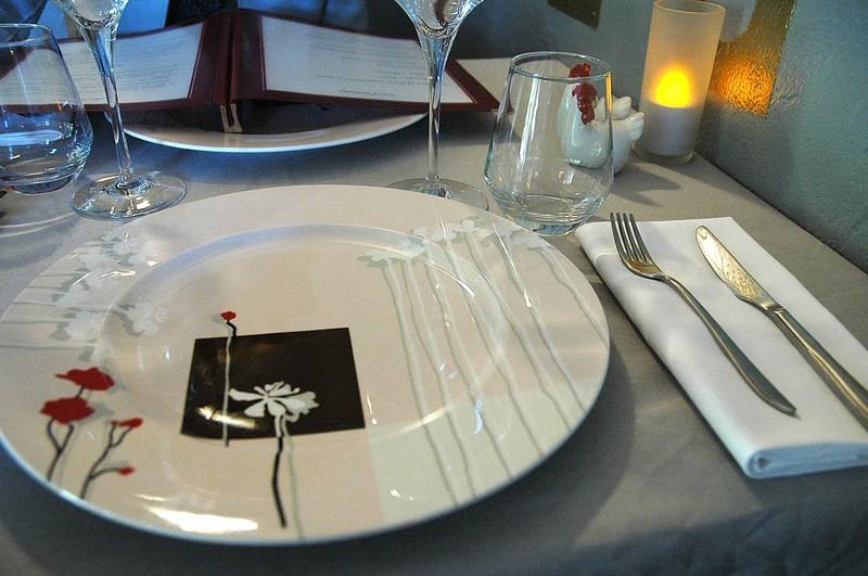Diner au restaurant l appart m rignac for Vaisselle restaurant gastronomique