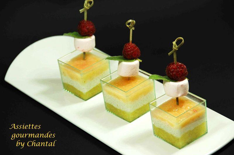 Verrine exotique for Dessert aux fruits en verrine