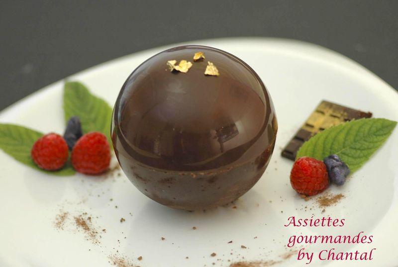 Sph re chocolat pour un dessert surprise - Dessert de noel original et facile ...