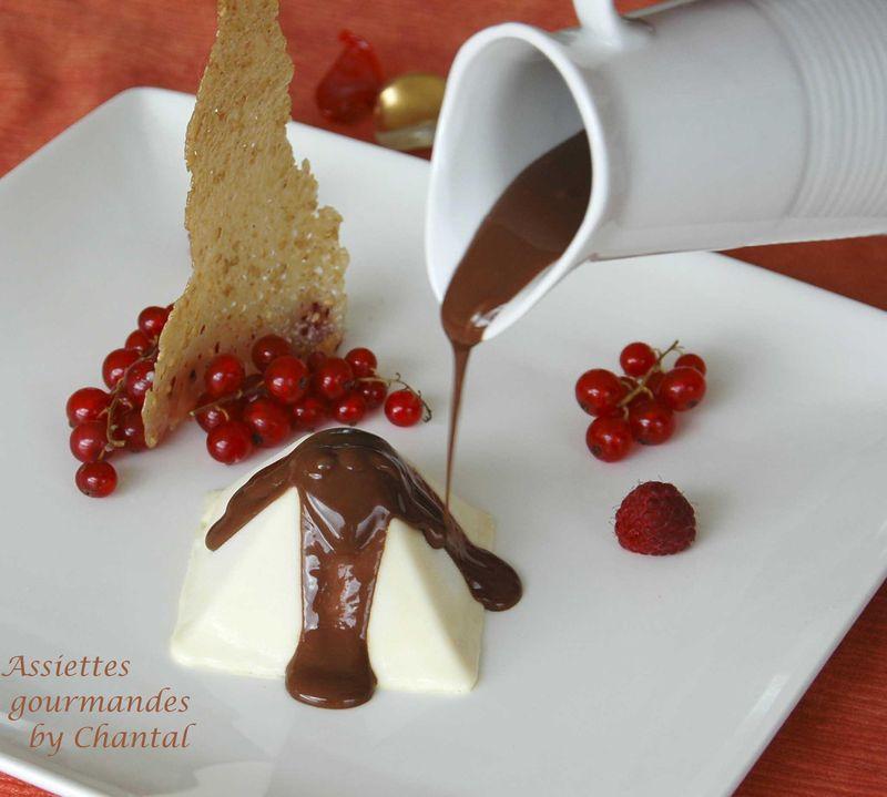 Un dernier dessert pour les f tes parfait au chocolat blanc et son coulis de chocolat noir - Very parfait chocolat blanc ...