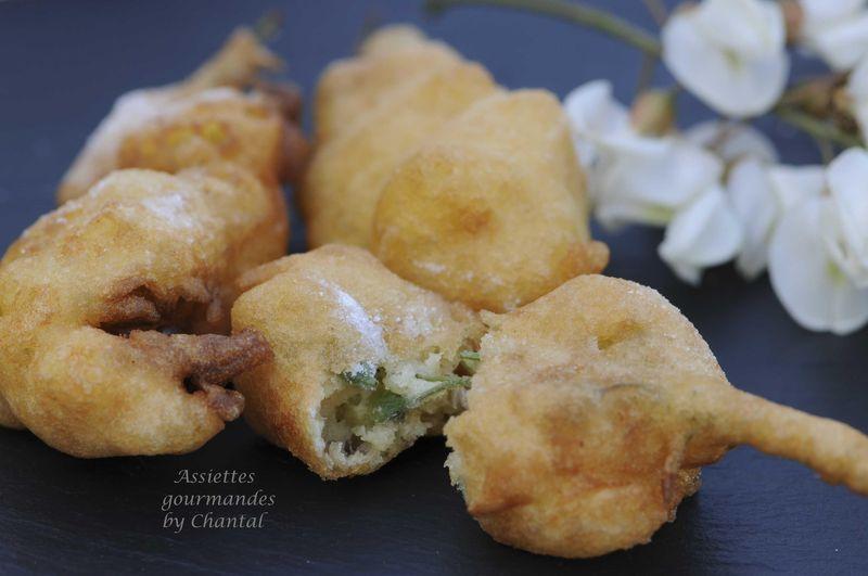 beignets de fleurs d'acacia |