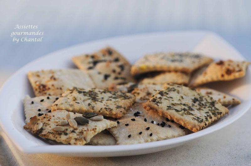 Crackers Apero Fait Maison By Lavande Et Thermomix Assiettes Gourmandes