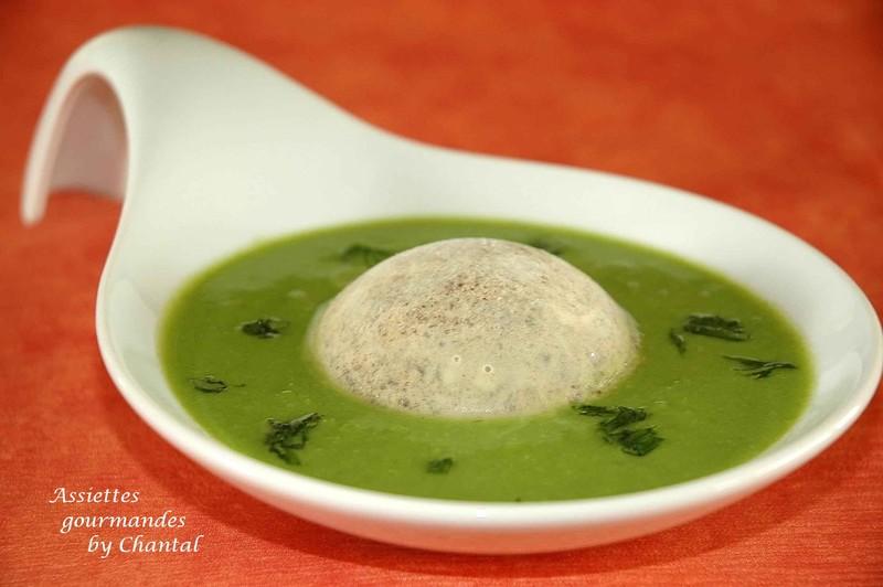 Chaud froid de petits pois et morilles for Entree gastronomique originale
