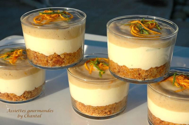 dessert en verrine carr 233 frais banane et pralin
