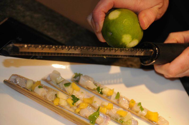 couteau de mer la mangue gingembre et citron vert. Black Bedroom Furniture Sets. Home Design Ideas