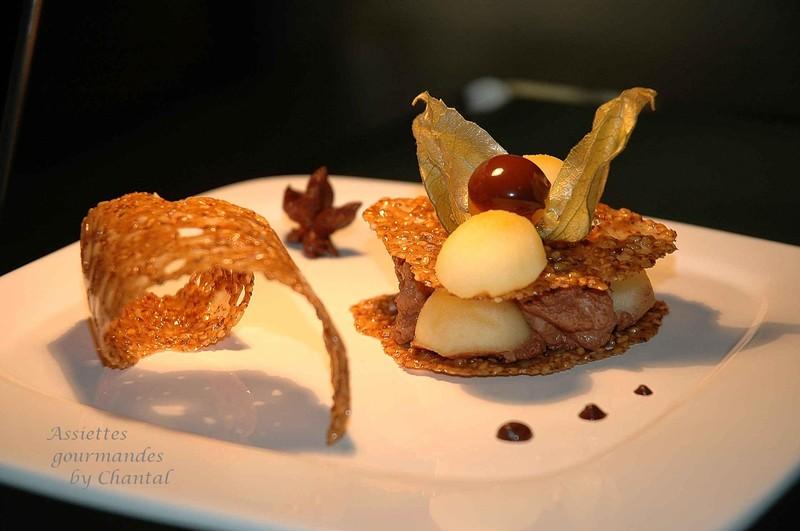 Croustillants de s same pommes la badiane et mousse aux for Decoration a l assiette