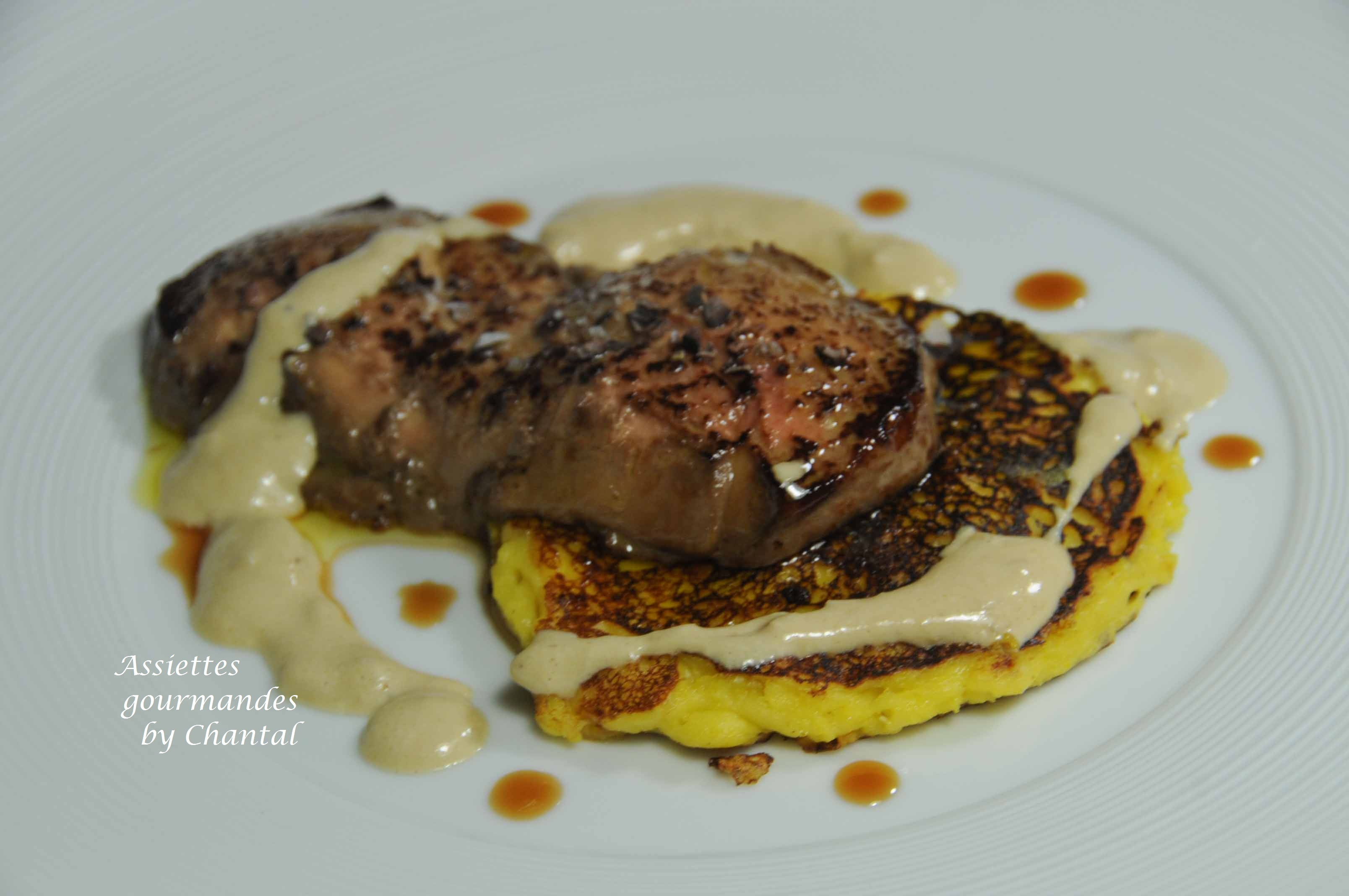 Blinis de ma s au foie gras recette de marc meneau - Recette de foie gras ...