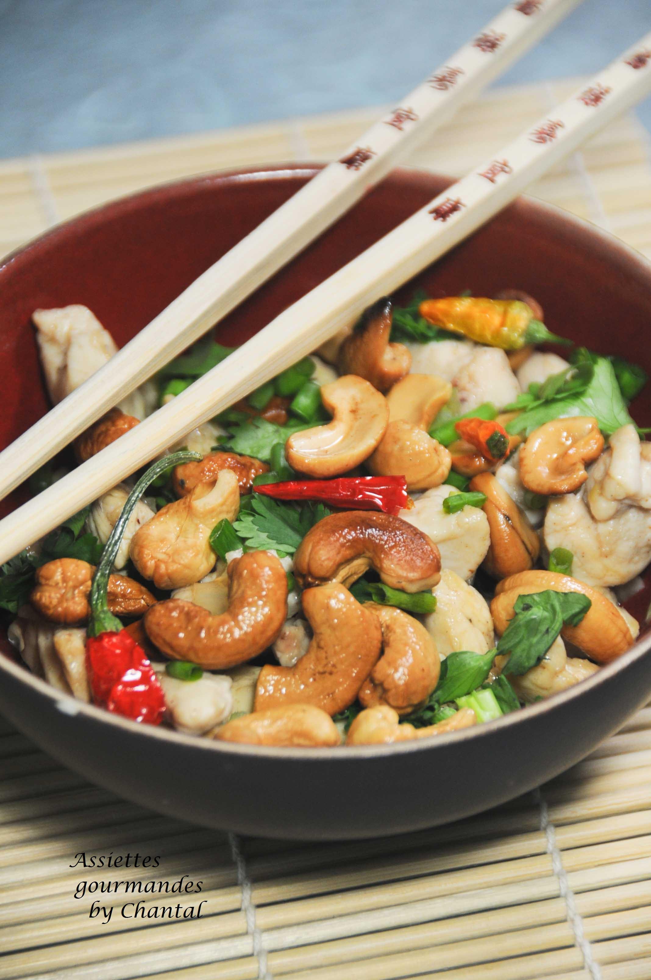Poulet aux noix de cajou recette tha cuisine asiatique for Cuisine thai