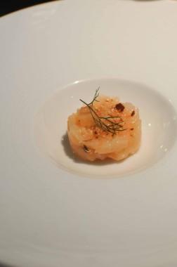 Langoustines rôties et en tartare, fenouil, mandes torréfiées (2)