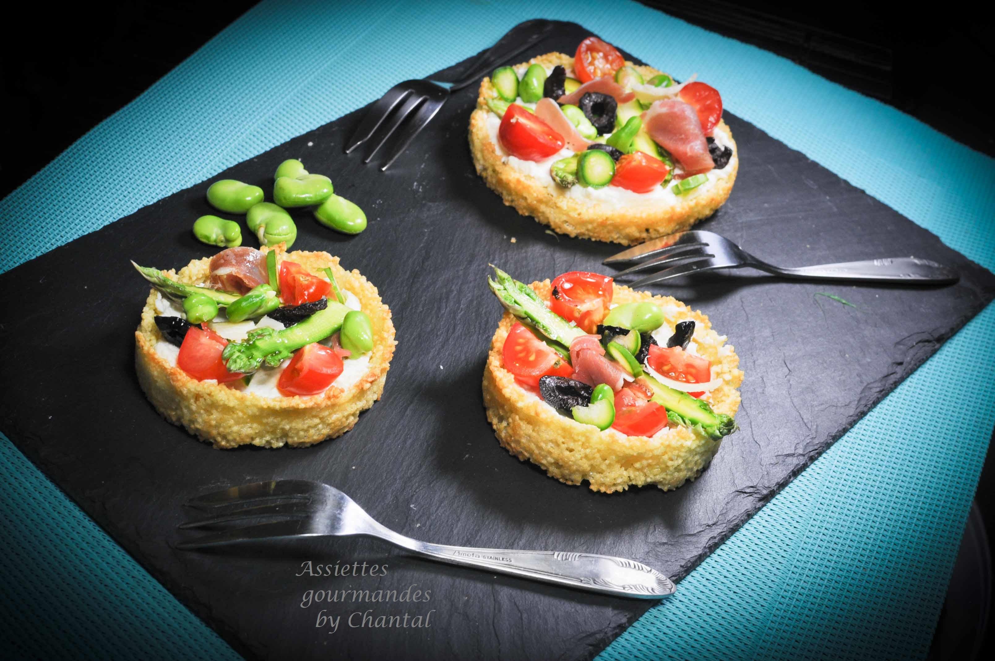 Tarte ricotta tapenade asperges et l gumes de printemps for Entree gastronomique originale