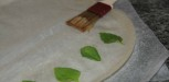 feuilles de basilic et feuilles de brick