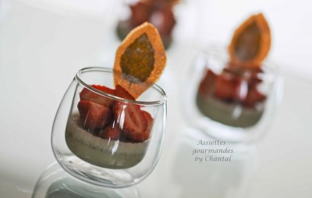 panna cotta basilic fraise 1
