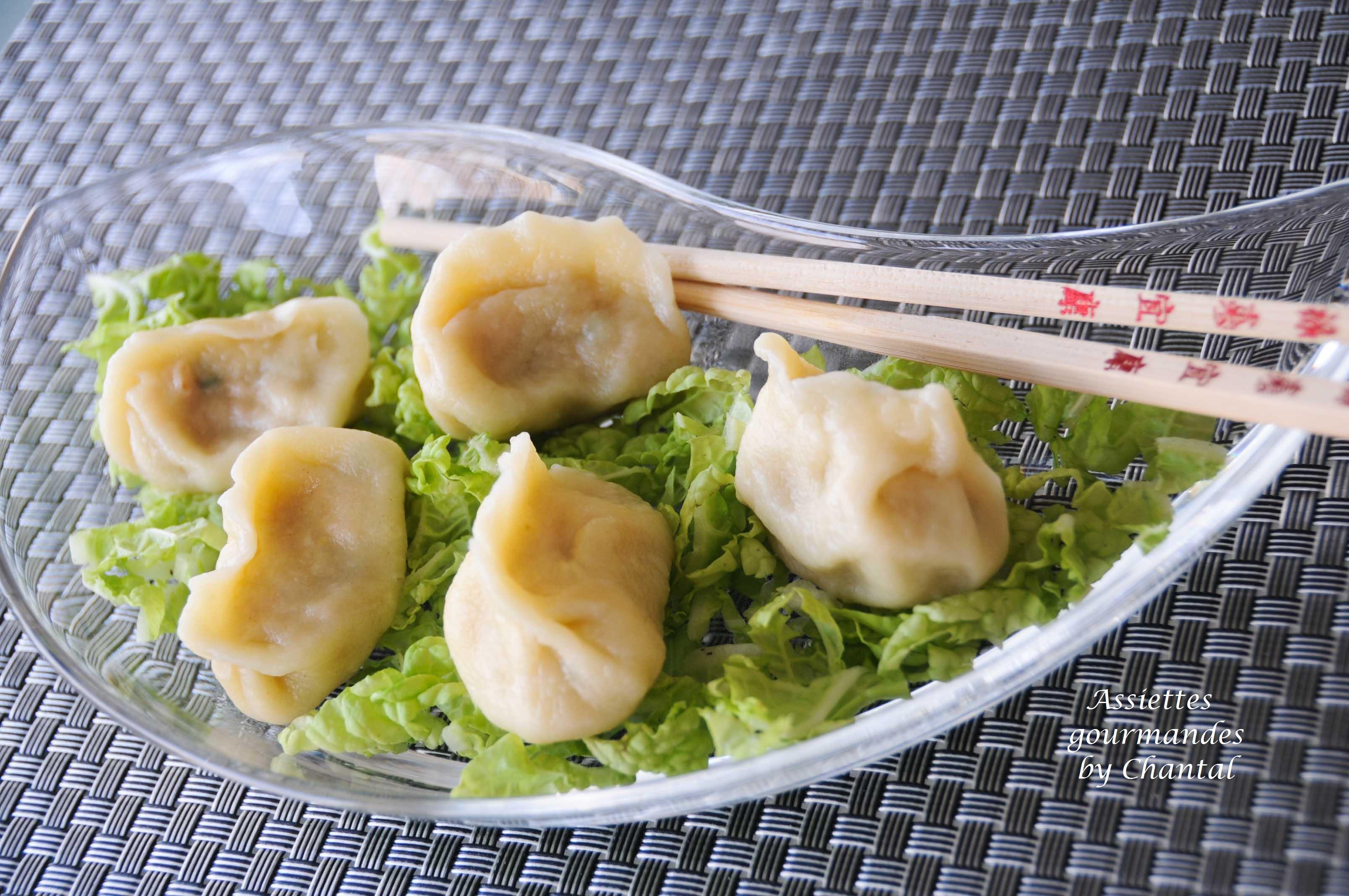Raviolis chinois jiaozi recette p te raviolis chinois - Cuisine asiatique vapeur ...