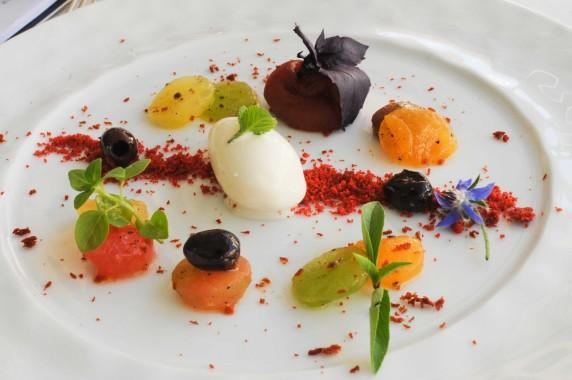 Restaurant Passions et Gourmandises, Saint-Benoit, Poitiers (15), Declinaison tomate mozarella