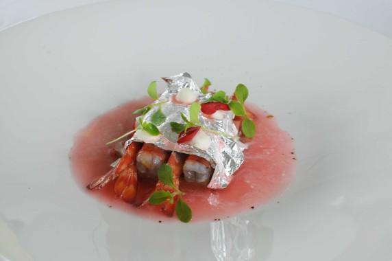 Restaurant l'Aquarelle, Royan (10) - Gambas de Mornac