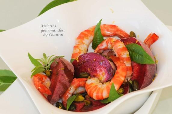 Salade peches crevettes 2