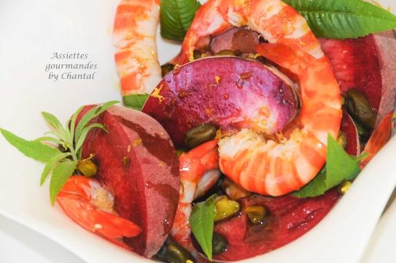 Salade peches crevettes 3
