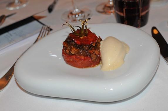 Oiseau Bleu Bordeaux - Tomate confite en dessert