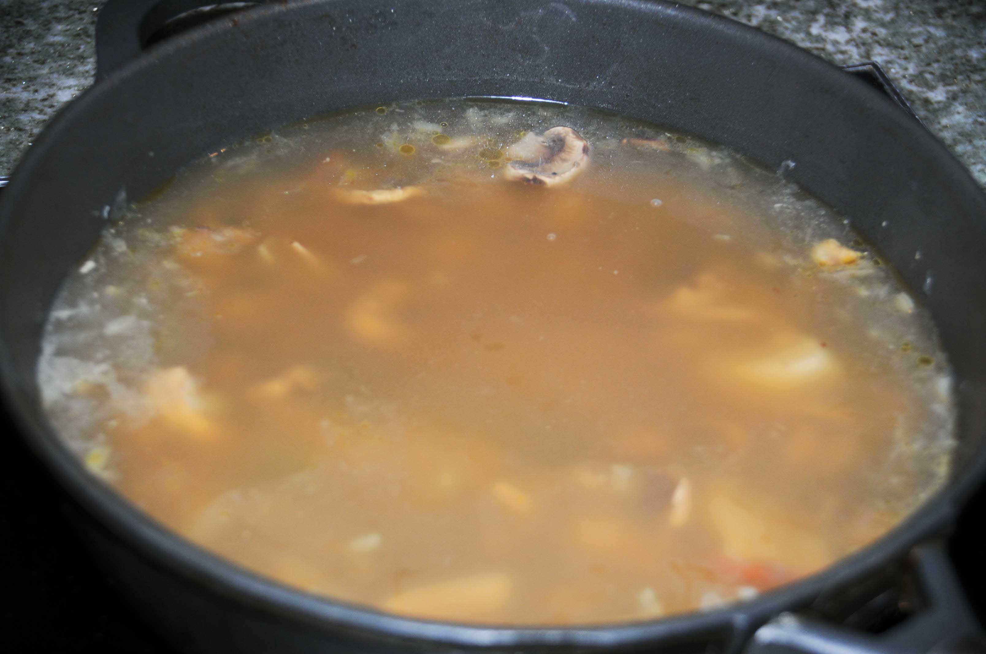 recette bouillon de champignons
