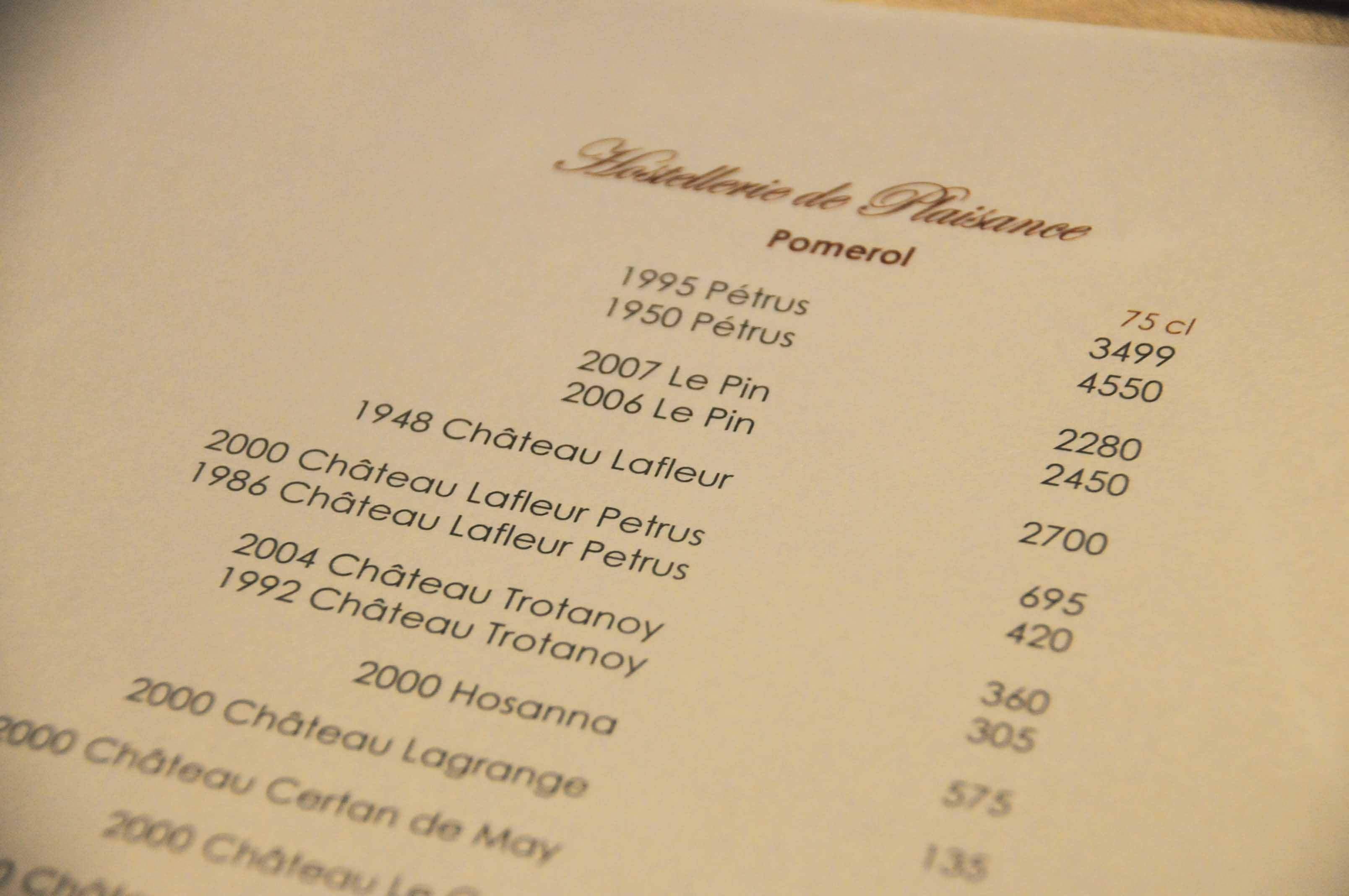 Restaurant Philippe Etchebest Prix Menu  Euros A Paris