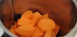 recette purée de patate douce, lait de coco