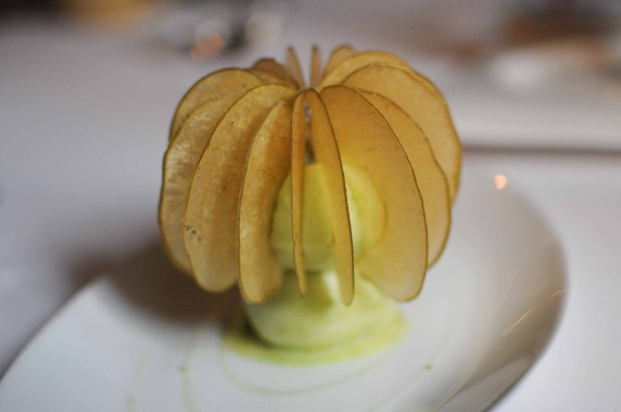 Cristalline de pommes et sorbet pomme verte