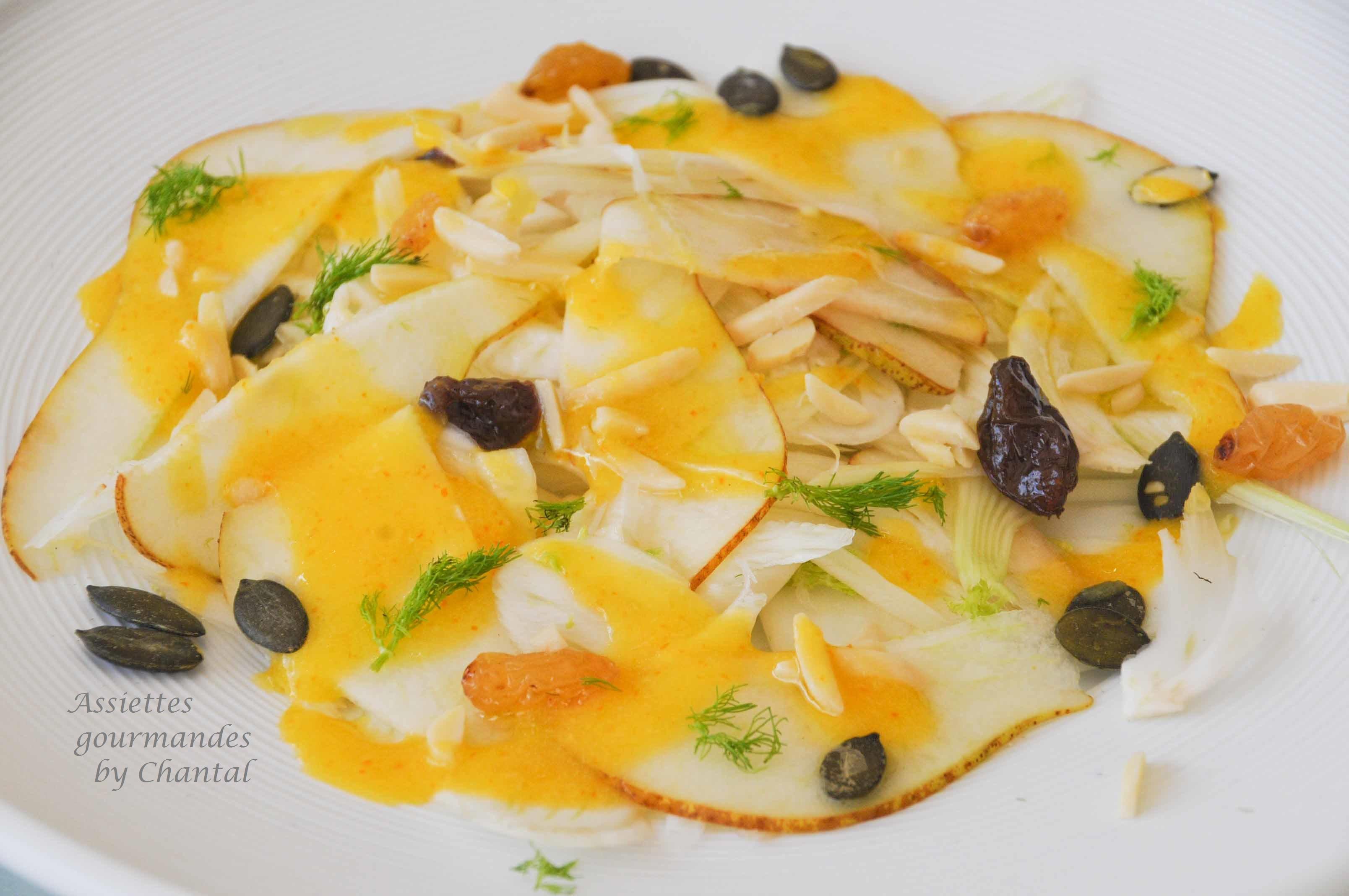 Salade fenouil poires vinaigrette la mangue for Salade entree originale