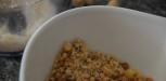 crumble au parmesan