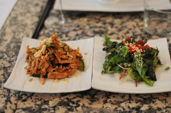 Poulet aux saveurs dites quotidiennes, au piment, salade de vermicelle à l'ail et au gingembre