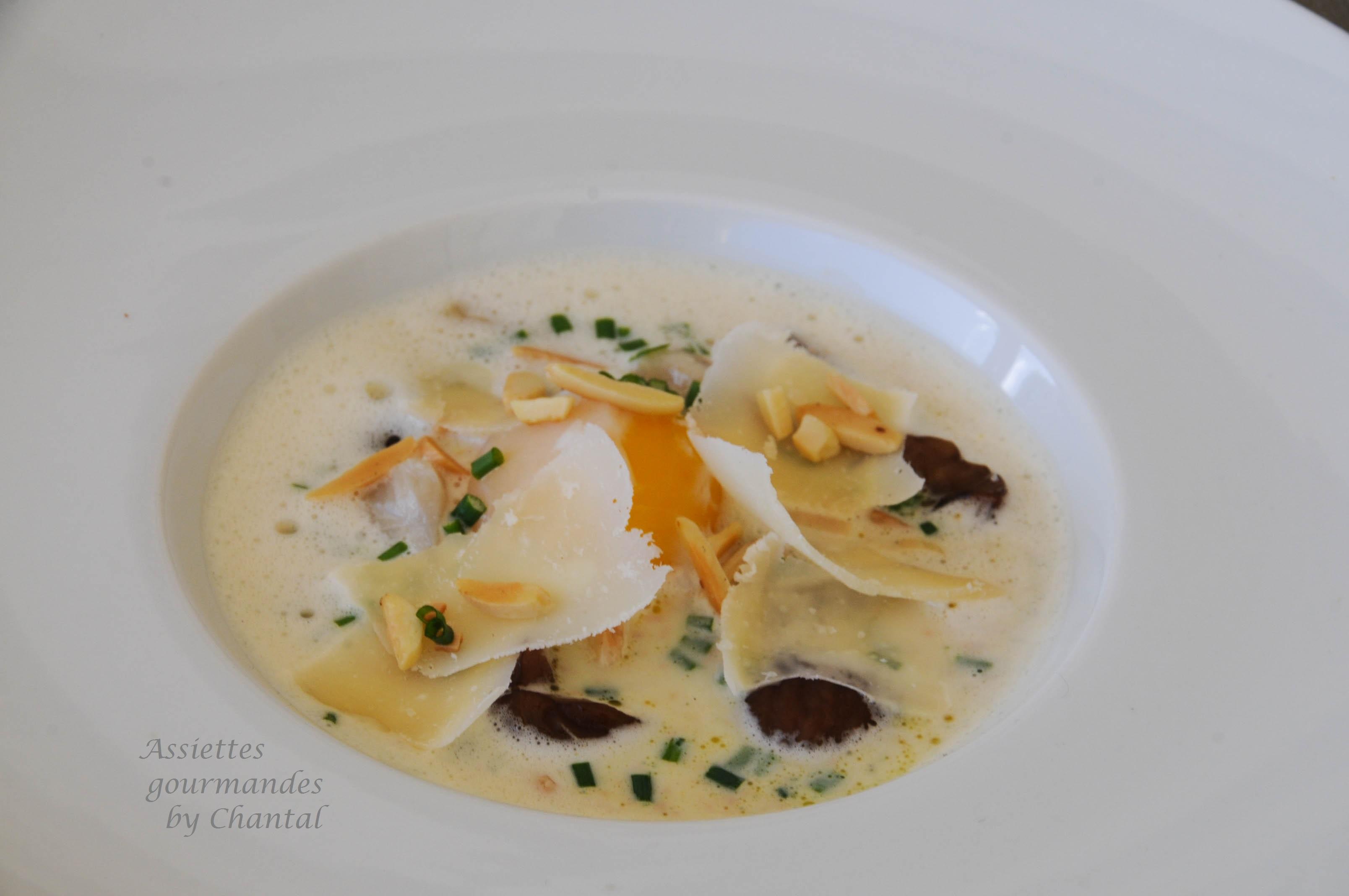 Oeuf 64 c leri fum esturgeon fum et lait de foie gras for Entree gastronomique originale