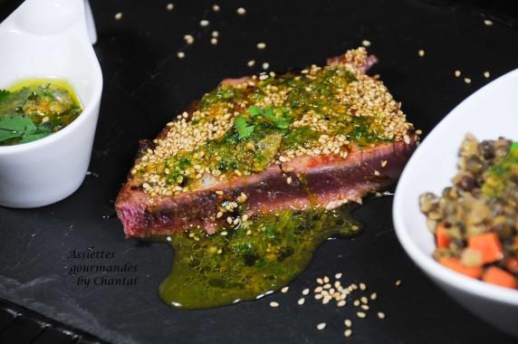 thon grillé sauce capres 2