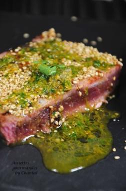 thon grillé sauce capres 3