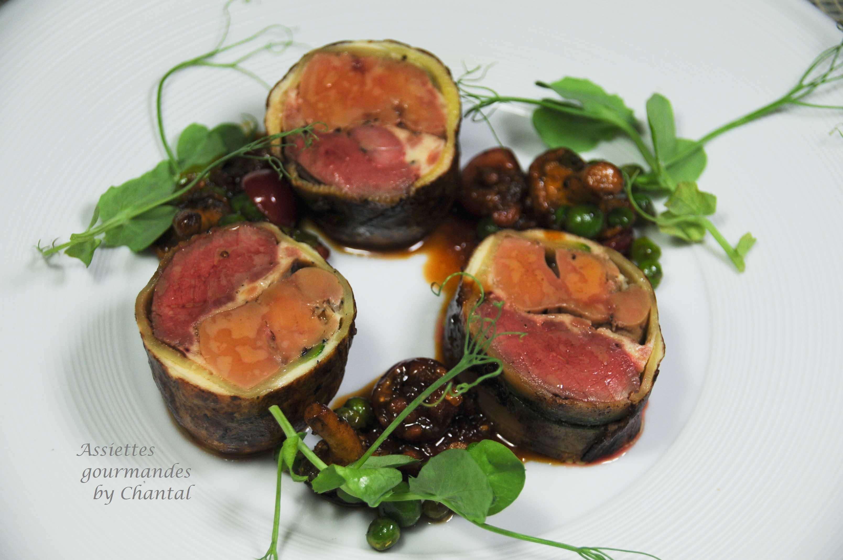Dodine pigeon foie gras avec aur lien crosato - Recette de cuisine gastronomique de grand chef ...