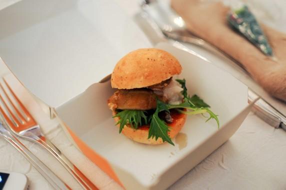 Mini Burger à la truffe, foie gras, lard de colonnata