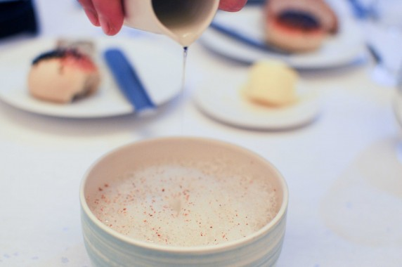 Risotto de soja aux huitres, girolles