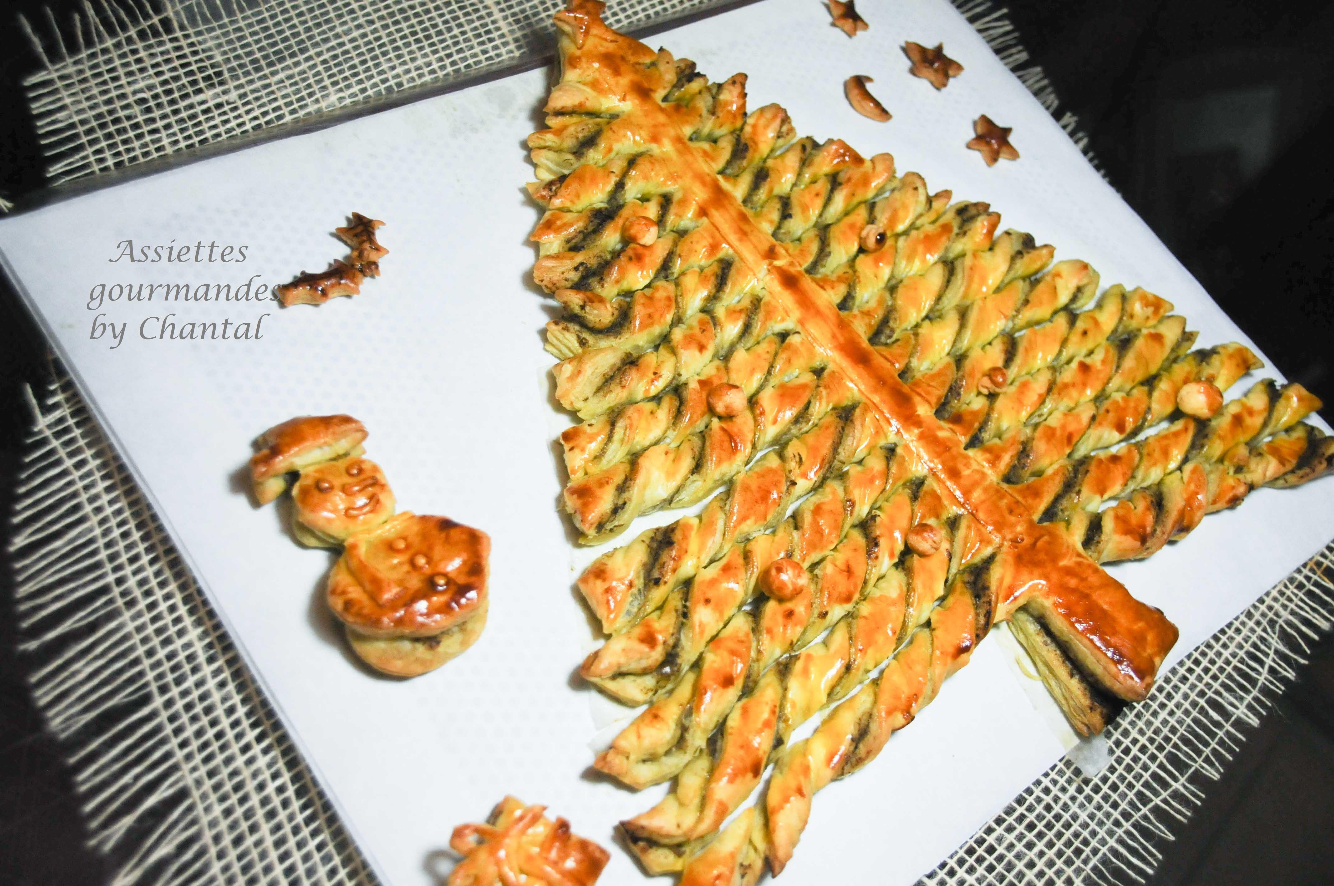 Tarte sapin tarte feuillet e ap ro for Idee repas de fete anniversaire