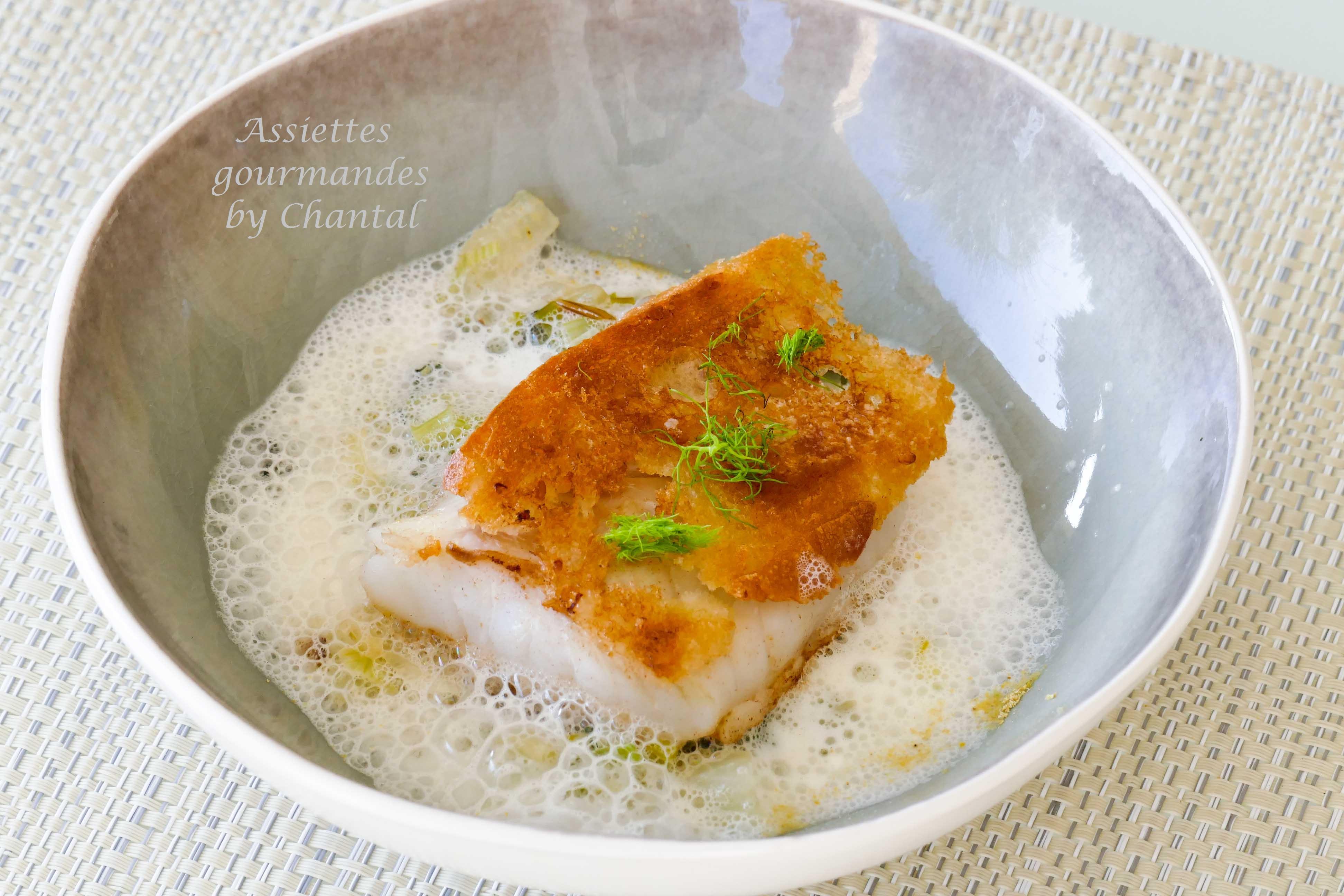Cabillaud r ti au pain fenouil et bouillon menthe agrumes for Cabillaud fenouil