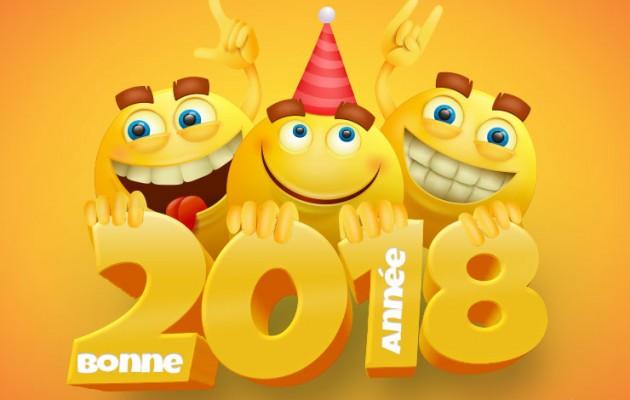 bonne-annee-2018-smileys-mignons