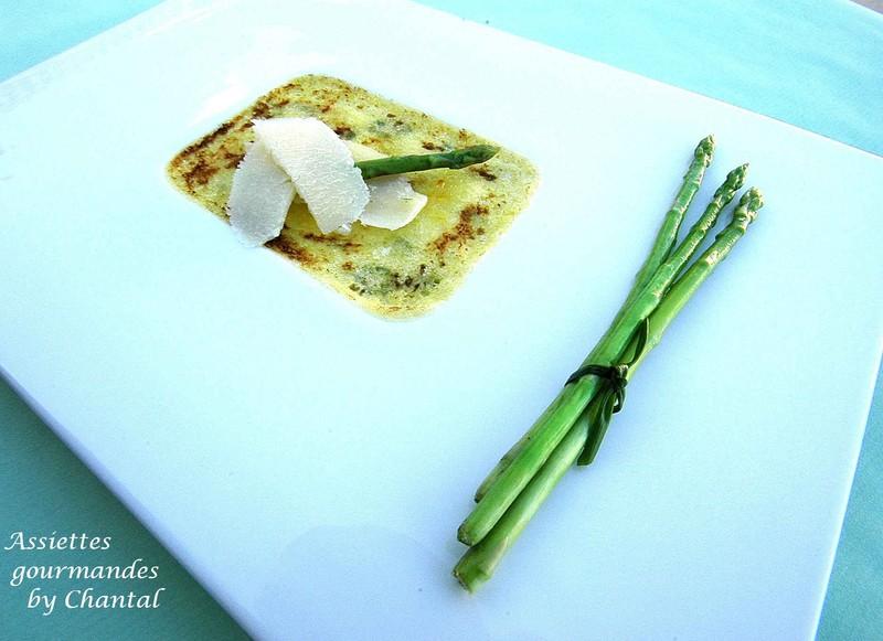 Crème brûlée aux asperges et au parmesan