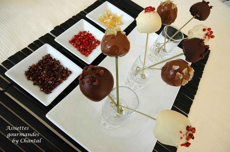 Sucettes au chocolat...ou sucettes au foie gras?