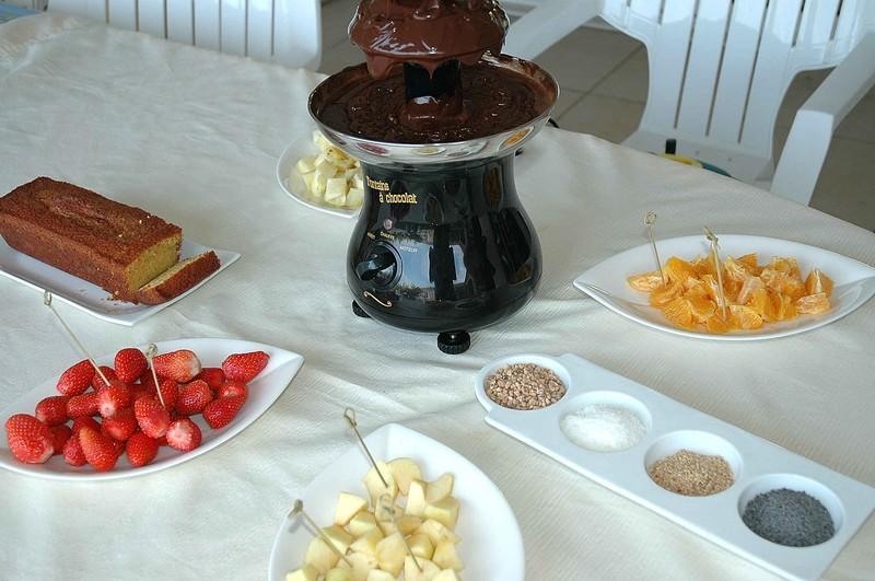 Fondue au chocolat et réunion des blogueuses bordelaises avec un invité surprise!
