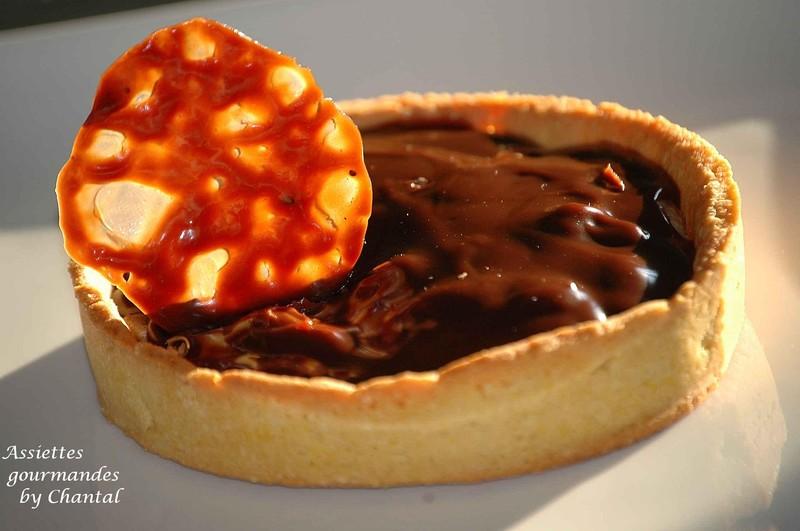 Tarte chocolat noix carambar