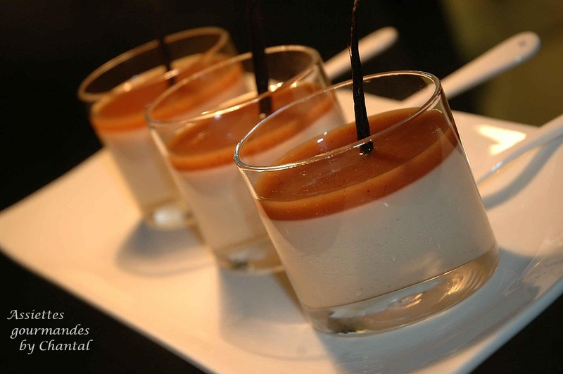 Panna Cotta (panacotta) crème de marron, liqueur de châtaigne