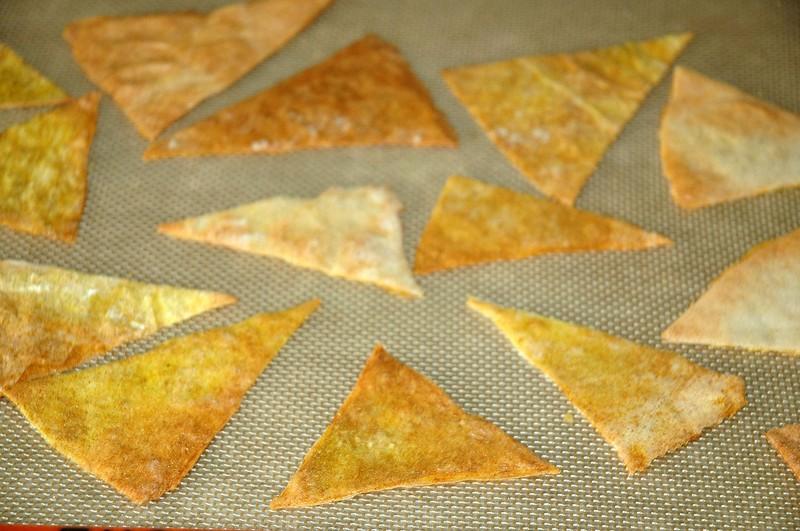 Tuiles en feuilles de brick aux épices