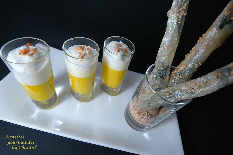 Crème de poivron, croustillants de blettes... selon Jean-Luc Rabanel