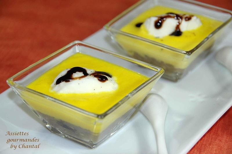 Caviar d'aubergine, velouté de poivrons jaunes, sorbet au fromage blanc