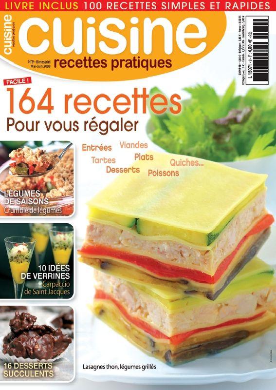 """Magazine """"Cuisine Recettes Pratiques"""""""