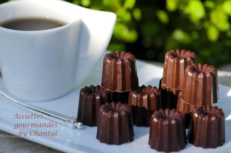 Cannelés (ou canelés) au chocolat