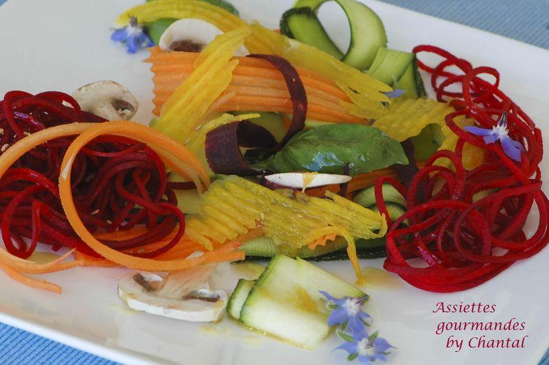Tagliatelles de légumes en salade